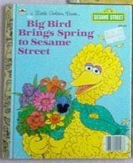 Little Golden Book Vintage Big Bird Brings Spring 1985 good condition