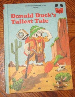 DONALD DUCK'S TALLEST TALE Disney 1980 vintage hardcover excellent condition