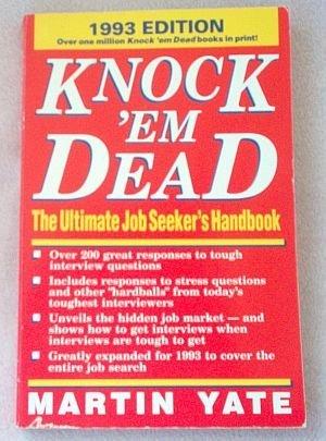 Knock 'Em Dead Job Seeker's Martin Yate 1993 book good condition