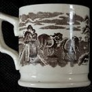 19th C. Antique Irish Lovers & Cows Mug Very Good Cond.