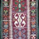 S Antique Tribal Kilim, Esme Usak Anatolia. Cicim Çicim