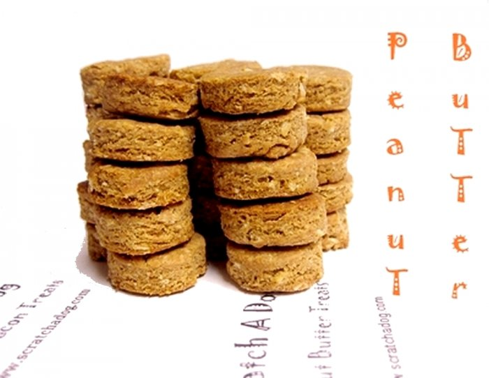 Homemade Dog Treats, Snacks, Peanut Butter Cookies