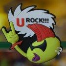 "Emoticon 3-D Magnet "" U ROCK!!! "" fr emoticonislive.com"