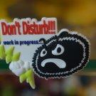 "Emoticon 3-D Magnet "" Don't Disturb!!! work in proguress "" fr emoticonislive.com"