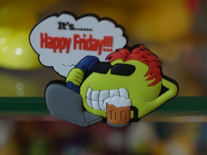 "Emoticon 3-D Magnet "" It's Happy Friday "" fr emoticonislive.com"