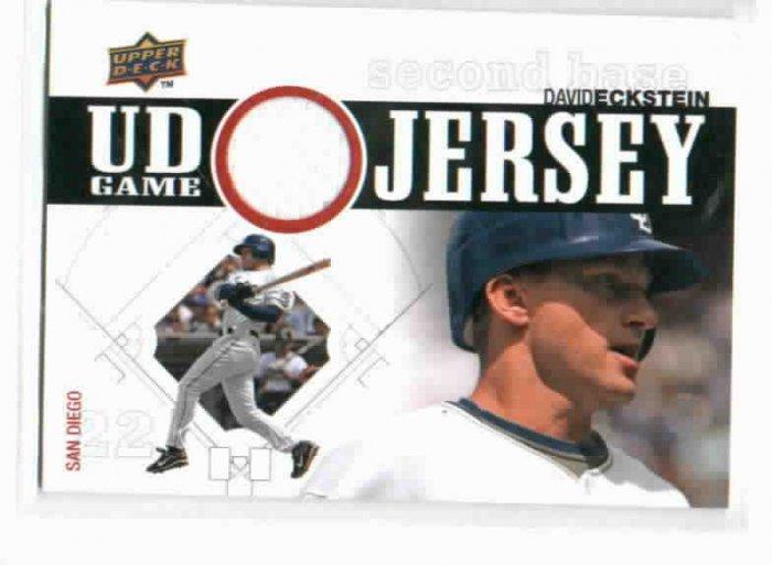 2010 Upper Deck Game Jersey David Eckstein San Diego Padres Baseball Card Game Used