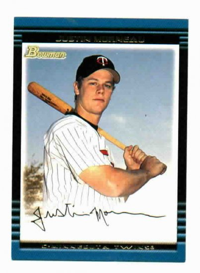 2002 Bowman Justin Morneau Rookie Card Minnesota Twins