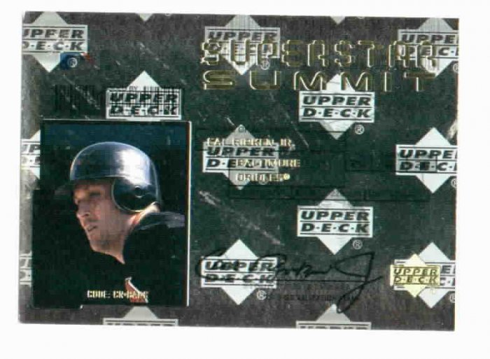 2000 Upper Deck Super Star Summit Cal Ripken Jr Insert Card Baltimore Orioles