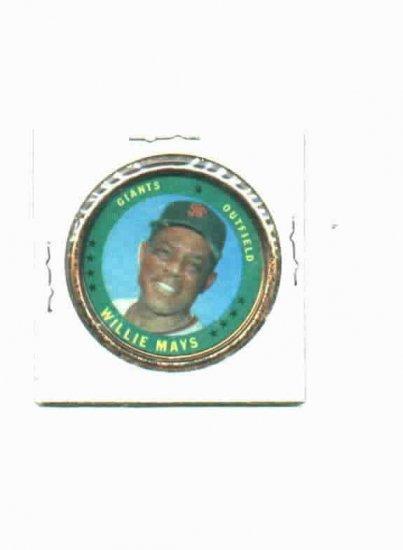 1971 Topps Coin Willie Mays San Francisco Giants Oddball