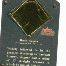 2002 Fleer Fall Classics Honus Wagner Hall Of Fame Plaque Card Pittsburgh Pirates #D / 1936