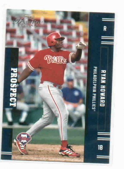 2005 Playoff Prestige Ryan Howard Rookie Card Philadelphia Phillies