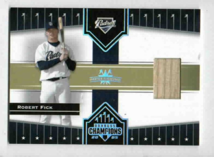 2005 Donruss Champions Impressions Robert Fick Bat Card San Diego Padres