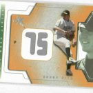 2002 Fleer Ex Behind The Numbers Barry Zito Game Used Jersey Baseball Card
