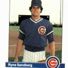 1984 Fleer Ryne Sandberg Chicago Cubs Baseball Card NICE