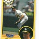 1991 Kenner Starting Lineup Mark McGwire Baseball Card Oakland A's