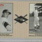 2002 Fleer Greats Dueling Duos Eddie Mathews Duke Snider Baseball Card Dodgers Braves