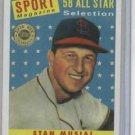 2003 Topps Shoebox Stan Musial 58 All Star St. Louis Cardinals Baseball Card