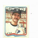 1985 Fleer Star Sticker Don Mattingly New York Yankees Oddball