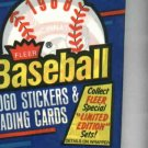 1988 Fleer Baseball Cards Unopened Wax Pack