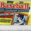1988 Topps Yearbook Stickers Unopened Pack