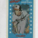 1982 Kelloggs 3D Superstars Jim Palmer Baltimore Orioles Baseball Card
