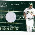 2003 Donruss Classics Dress Code Jason Giambi Jersey Card Oakland A's #D /500