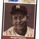 1989 Kenner Starting Lineup Mickey Mantle Baseball Card New York Yankees Oddball