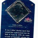 2002 Fleer Fall Classics Eddie Collins HOF Plaque Philidelphia Athletics #D / 1939