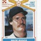 1987 Ralston Purina Wade Boggs Baseball Card Oddball