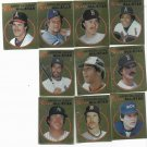 1982 Topps Sticker Album Complete American League All Star Foil Set Brett Carew Morris