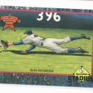 "1992 SportsNet Herorics Ron Swoboda ""The Catch"" New York Mets Oddball Baseball Card"
