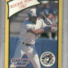 1989 Kenner Starting Lineup Fred McGriff Rookie Year 1987 Baseball Card Toronto Blue Jays