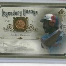 2005 Upper Deck Legendary Lineage Andre Dawson Expos #D / 399