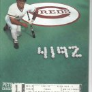 1985 Cincinnati Reds Scorebook Pete Rose 4192 Cover