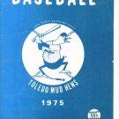 1975 Toledo Mudhens Score Book Unscored