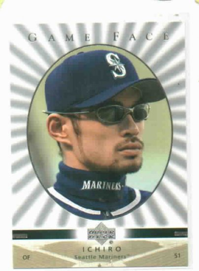 2003 Upper Deck Game Face Ichiro Seattle Mariners SP