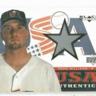 2000 Upper Deck Black Diamond USA Todd Williams Jersey Card