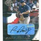 2001 Donruss Class Of 2001 Paul Phillips Rookie Autograph Kansas City Royals #D /1875