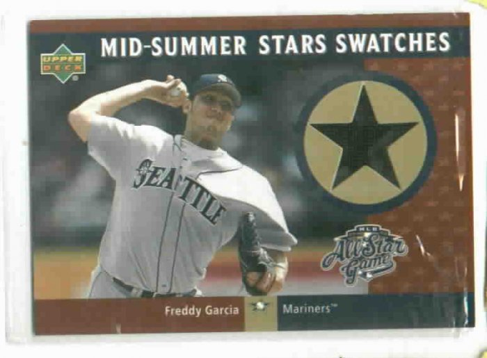 2002 Upper Deck Mid Summer Swatches Freddy Garcia Jersey Seattle Mariners