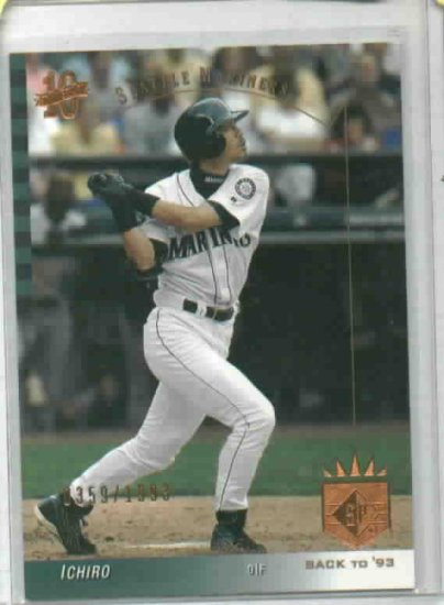 2003 Upper Deck SP Back To 93 Ichiro Seattle Mariners #D / 1993