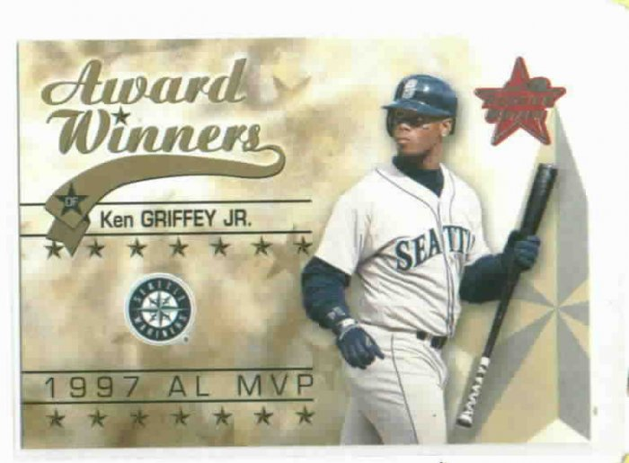2002 Leaf Rookies & Stars Award Winners Ken Griffey Jr Seattle Mariners