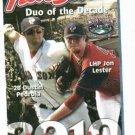 2010 Pawtuckett Red Sox Pocket Schedule Dustin Pedroia Jon Lester