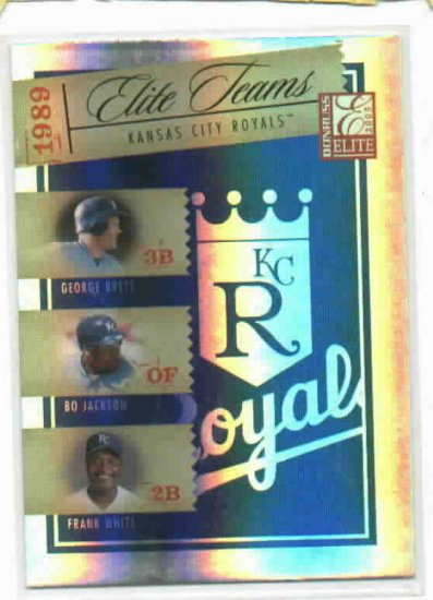 2005 Donruss Elite Teams Kansas City Royals #D/ 1000 George Brett Bo Jackson Frank White