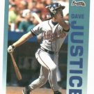 1992 Fleer Citgo 7-11 The Performer Collection Dave Justice Oddball Atlanta Braves
