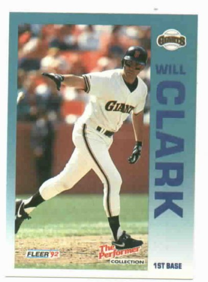1992 Fleer Citgo 7-11 The Performer Collection Will Clark Oddball San Francisco Giants