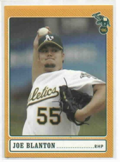 2006 Oakland A's Stadium Give Away Joe Blanton Baseball Card Oddball
