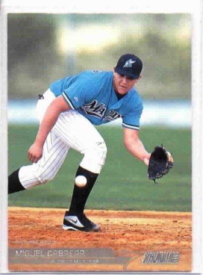 2002 Topps Stadium Club Miguel Cabrera ROOKIE Florida Marlins Tigers