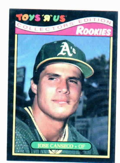 1987 Toys R Us Rookies Jose Canseco Oakland A's Oddball