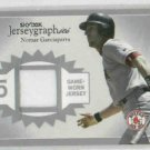 2004 Fleer Skybox Jerseygraphics Nomar Garciaparra Jersey Card Boston Red Sox #D /100