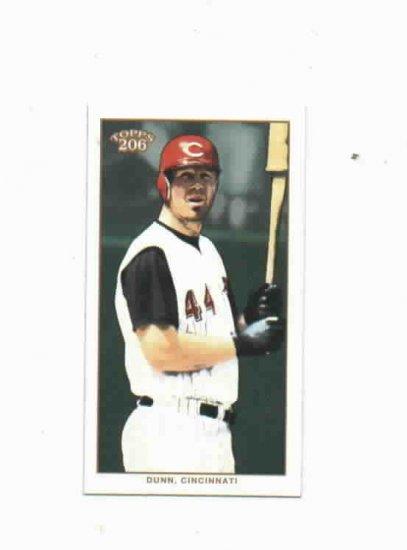 2002 Topps 206 Adam Dunn Cincinnati Reds Piedmont Back